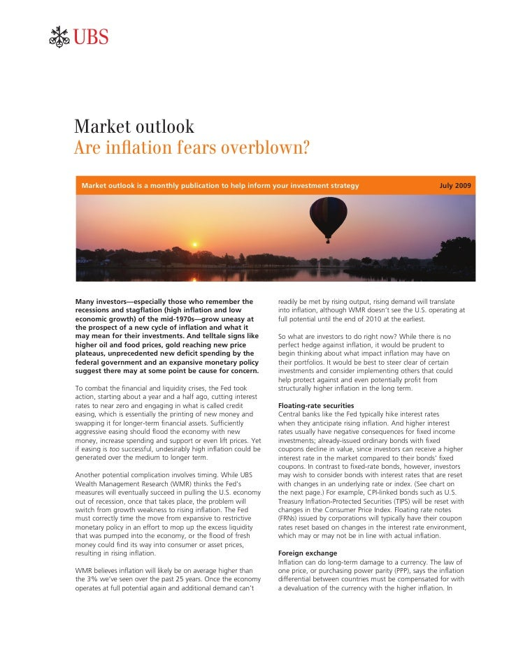 ab    Market outlook Are inflation fears overblown?   Market outlook is a monthly publication to help inform your investme...