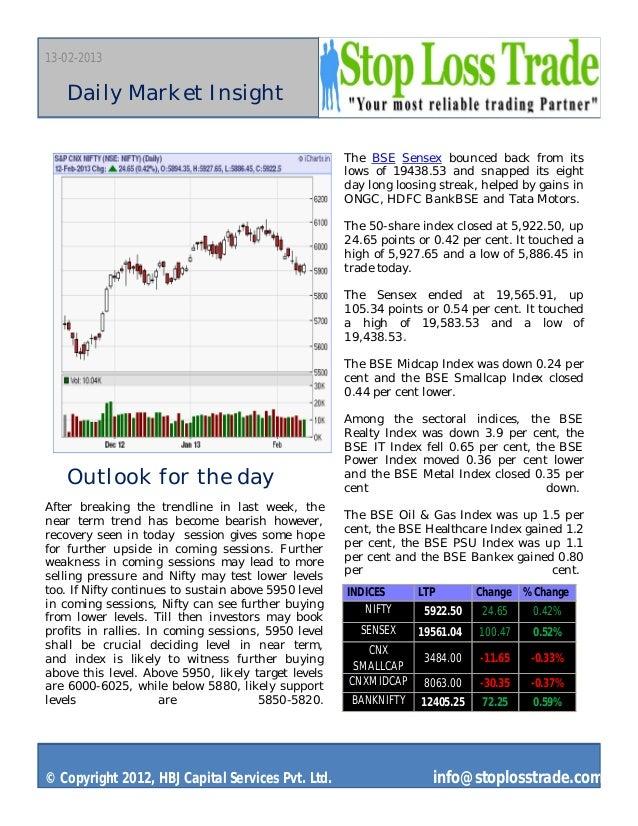 Market outlook stoplosstrade 13 feb 2013
