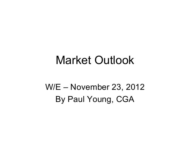Market OutlookW/E – November 23, 2012  By Paul Young, CGA