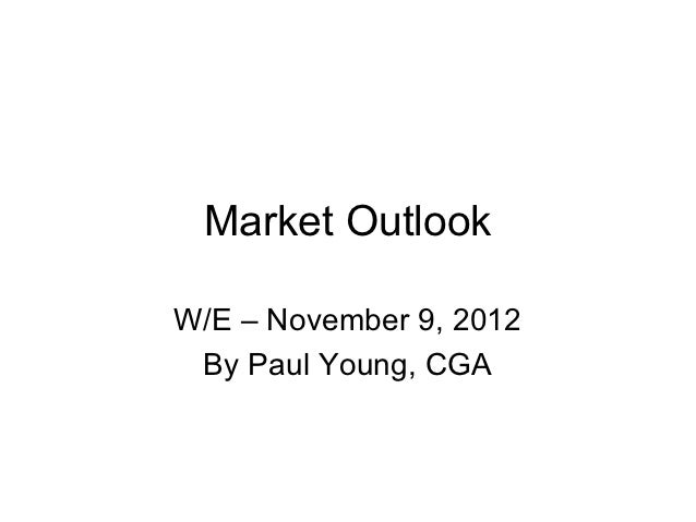 Market OutlookW/E – November 9, 2012 By Paul Young, CGA