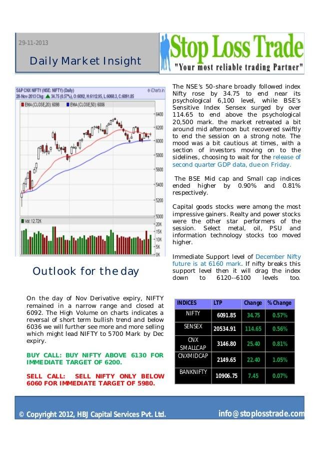 Market outlook stoplosstrade 29 nov 2013