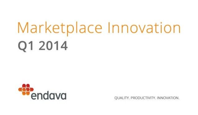 Marketplace Innovation Report | Q1 2014