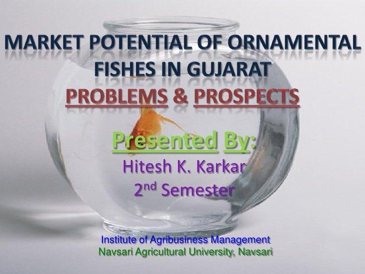 Presented By:      Hitesh K. Karkar       2nd Semester  Institute of Agribusiness Management Navsari Agricultural Universi...