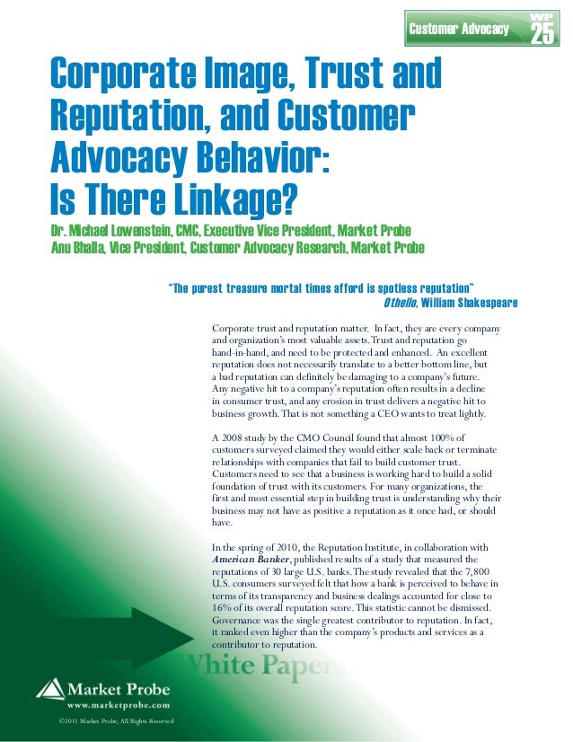 Corporate Reputation and Image White Paper