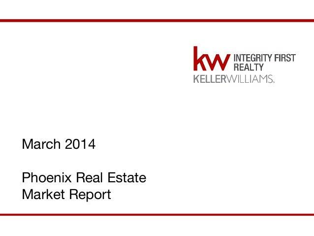March 2014 Phoenix Real Estate Market Report March 2014 Phoenix Market Report