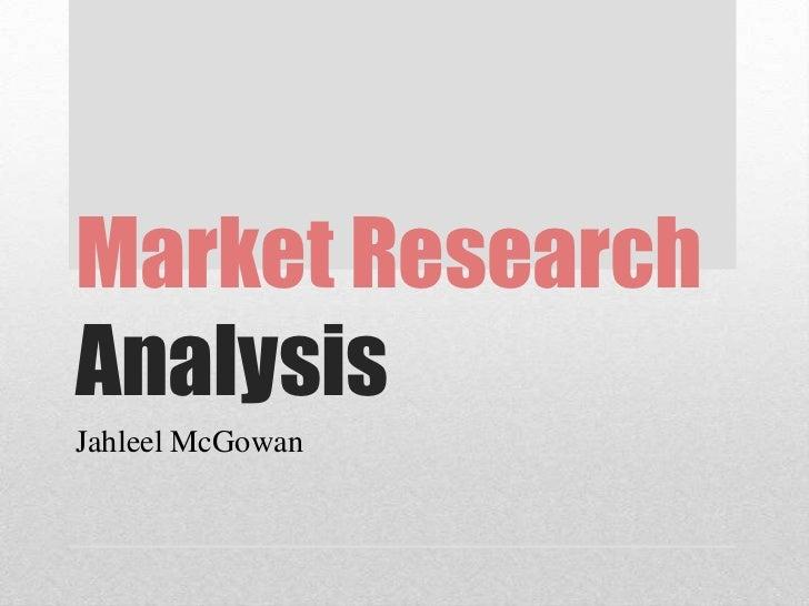 Market ResearchAnalysisJahleel McGowan