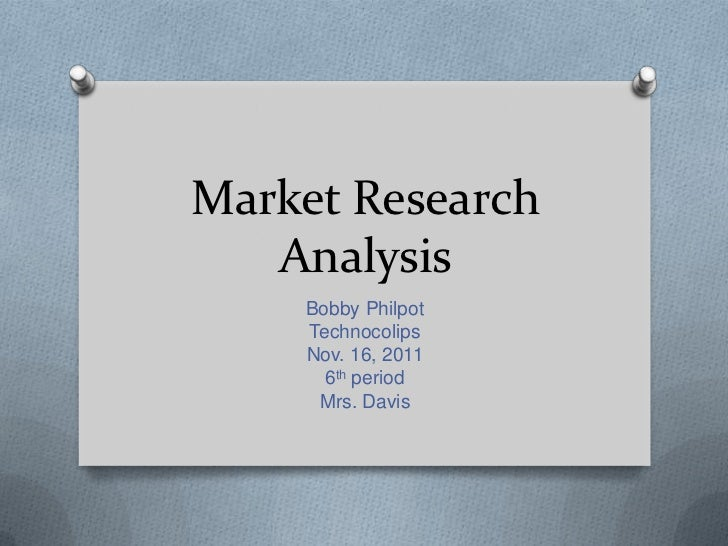 Market research analysis  bobby philpot