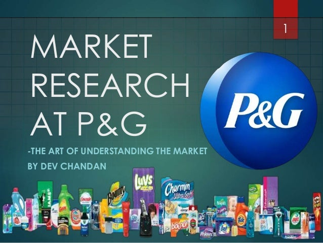 Market Research At P G