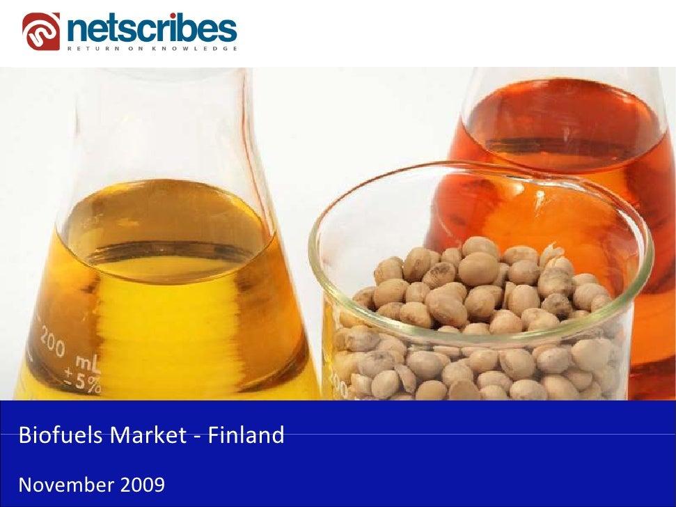 BiofuelsMarket‐Biofuels Market FinlandNovember2009