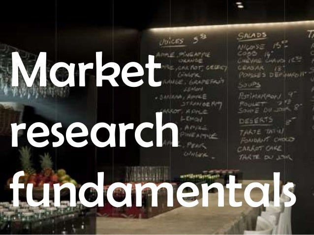 Market Research Fundamentals