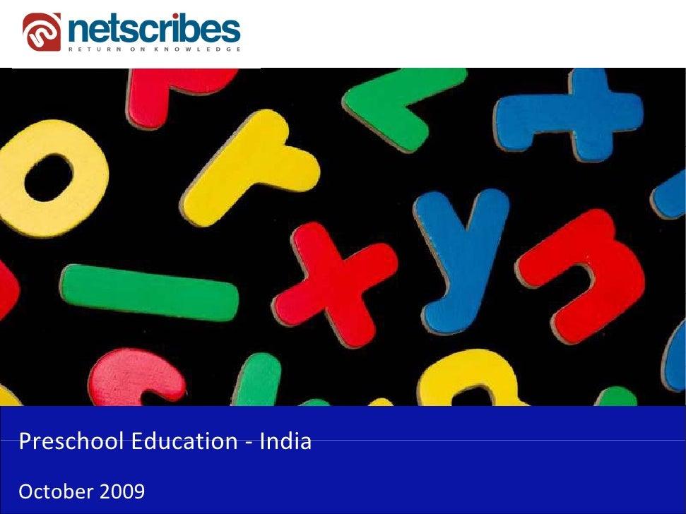 PreschoolEducation‐Preschool Education IndiaOctober2009