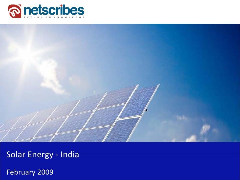 SolarEnergy‐Solar Energy IndiaFebruary2009