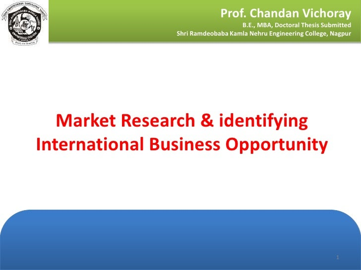 Phd thesis in international business