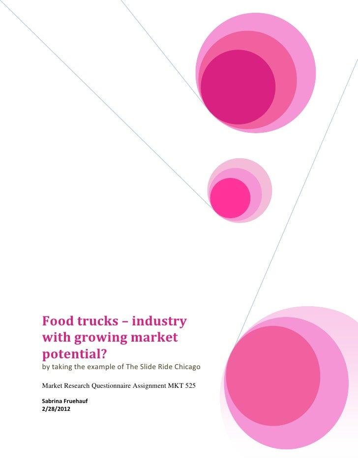 Market research mkt 525 questionnaire