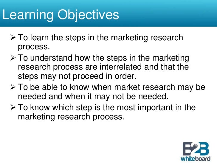 research objectives examples