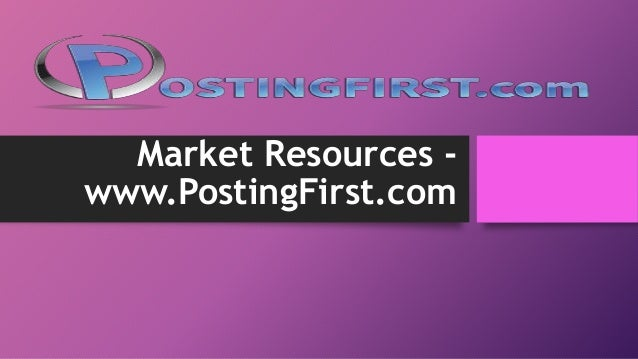 Market resource postit first