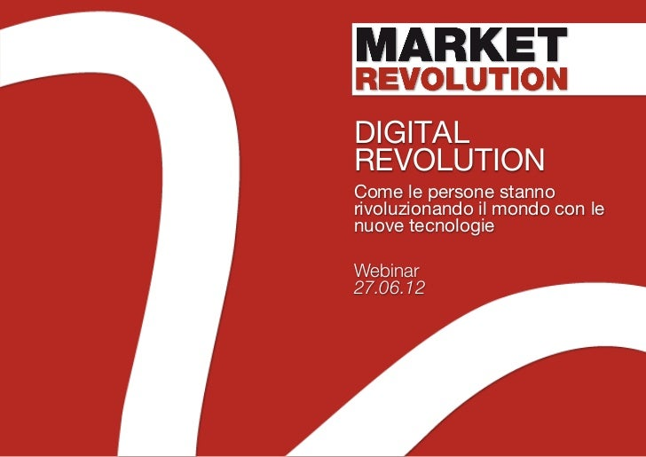 Market revolution - Digital revolution [webinar]