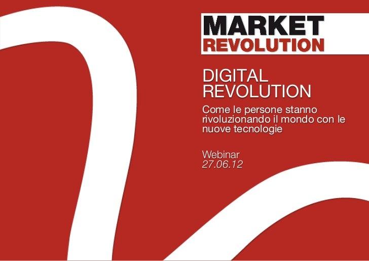Market revolution - Digital revolution [webinar]