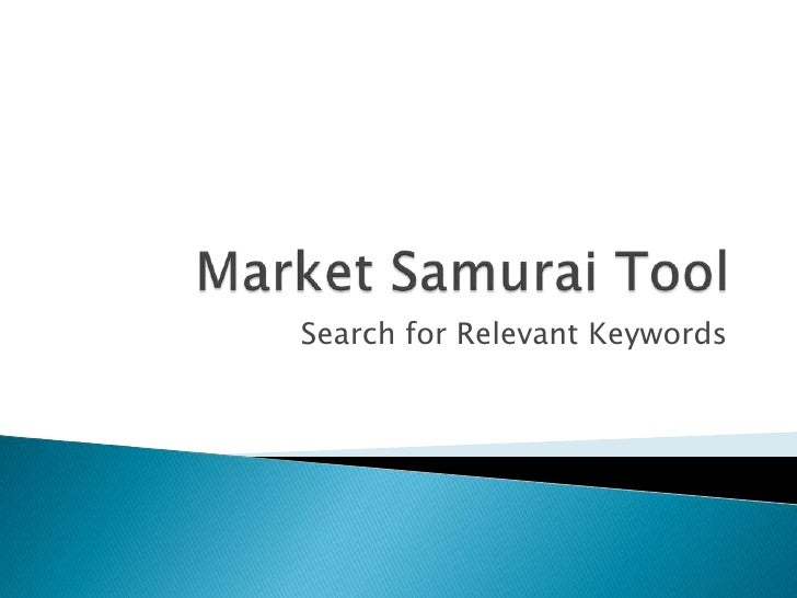 Search for Relevant Keywords