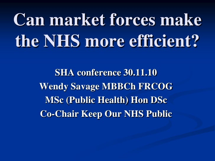 Market Forces in NHS