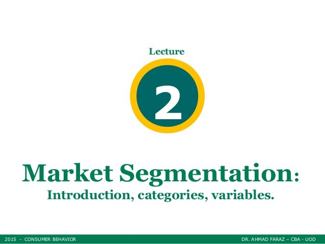 dissertation on market segmentation As accepted by my examiners i understand that my thesis may be made  electronically available to the public  motivation-based market segmentation.