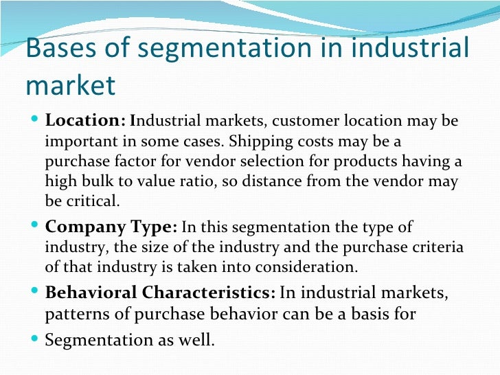 segmentation of cadbury