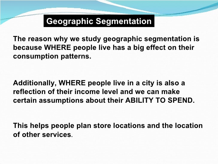 market segmentation of topshop Acorn the market research industry also uses a consumer group taxonomy known as acorn the basis of acorn categories is geodemographic segmentation.