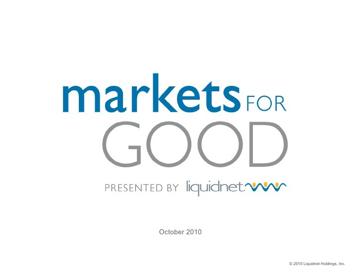 Markets For Good presented by Liquidnet