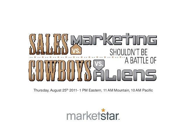 MarketStar Sales vs. Marketing Lead Nurturing Webinar