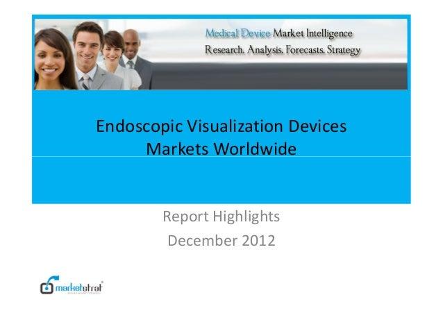 Endoscopic Visualization Devices Markets Worldwide