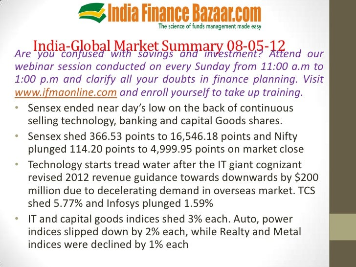 India-Globalwith savings and investment? AttendAre you confused                 Market Summary 08-05-12                   ...