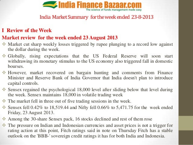 Market summary pptx   for the week ended  23-8-2013