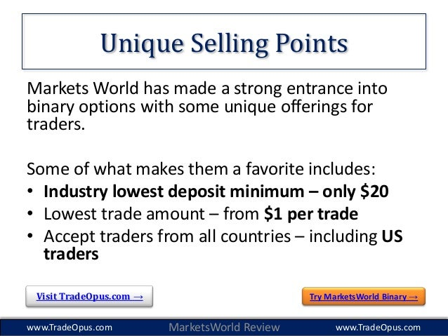 Binary option trade world markets