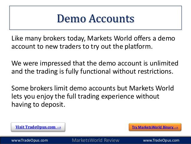marketsworld demo