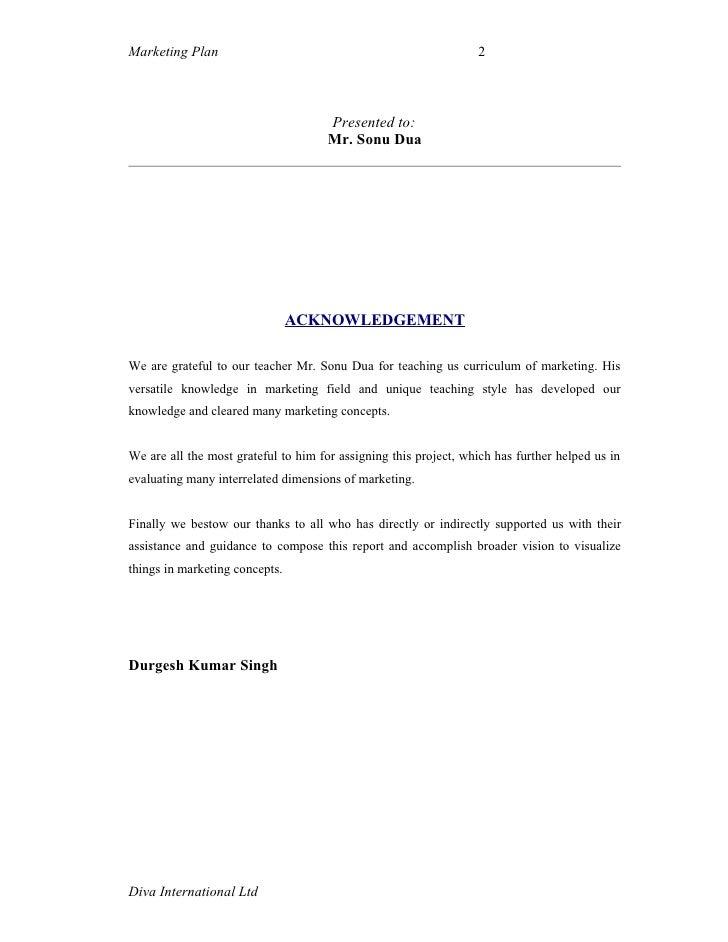 Acknowledgement term paper