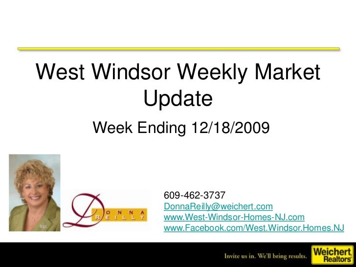 West Windsor NJ Weekly Market Update Week Ending 12/18/2009