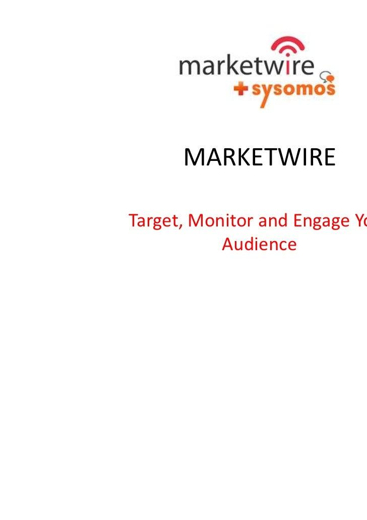 Marketwire tech day slides