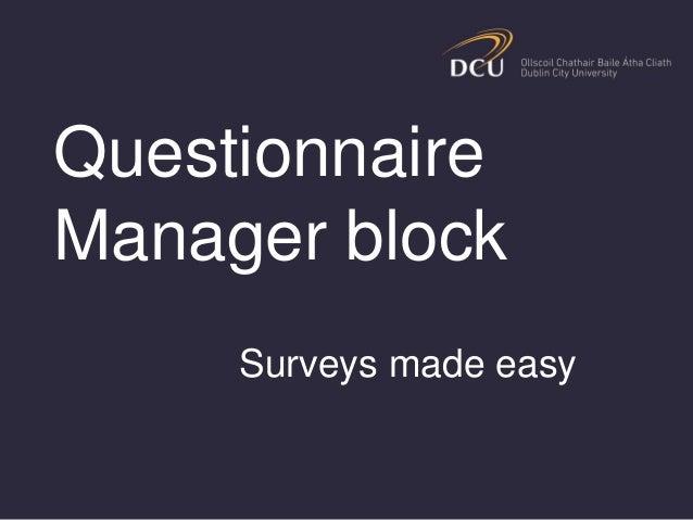 Surveys made easy with MoodleMark Glynn, Gavin Henrick