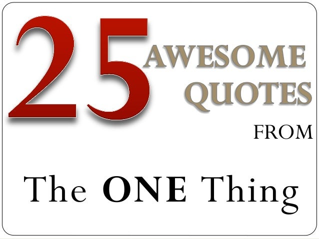 Marki Lemons Ryhal Favorite Quotes From The ONE Thing