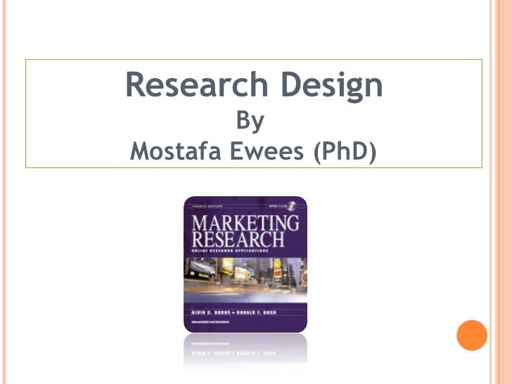 Research Design By  Mostafa Ewees (PhD)