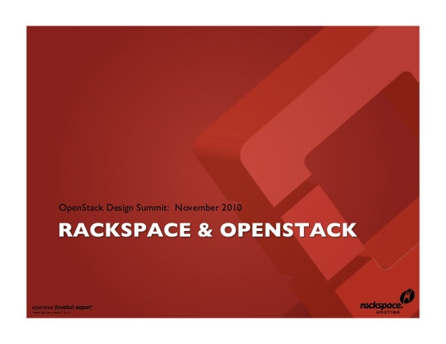 OpenStack Design Summit: November 2010