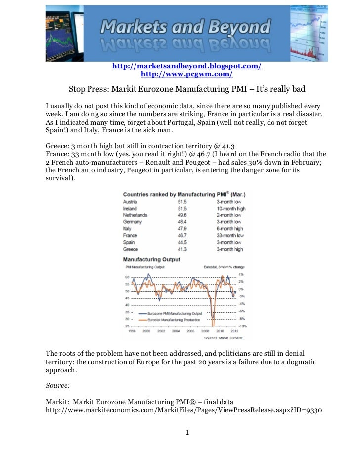 Markit   eurozone manufacturing pmi