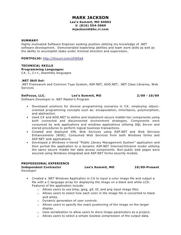 Resume of Mark Jackson