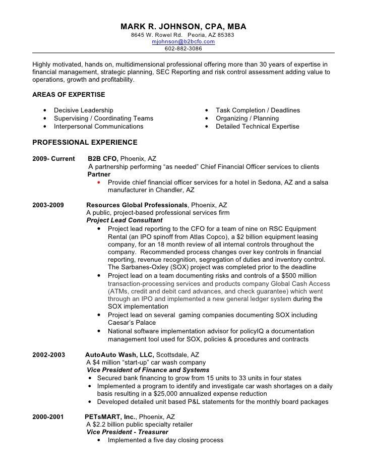 Mark Johnson's Resume
