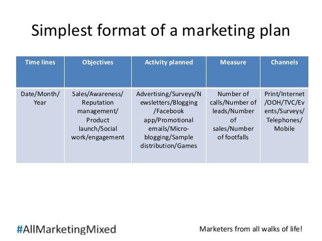 Sample business marketing plan
