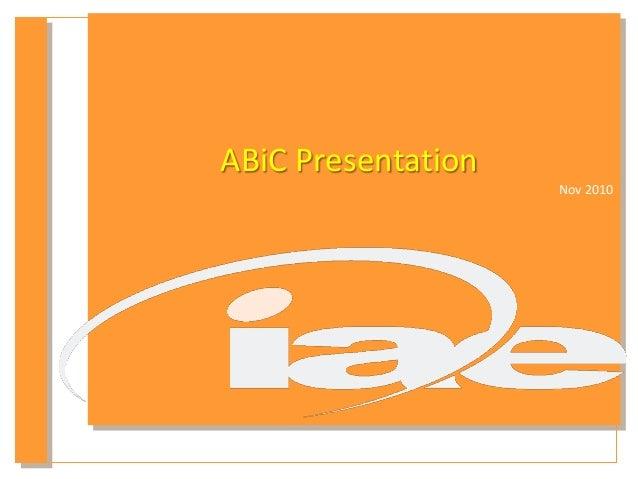 ABiC Presentation Nov 2010