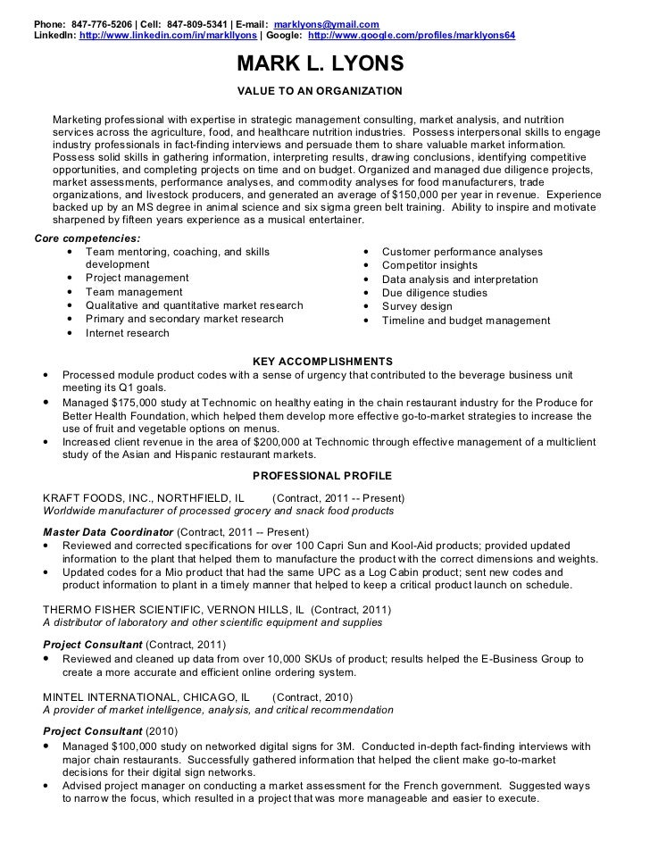 resume for food industry professional food s representative ...