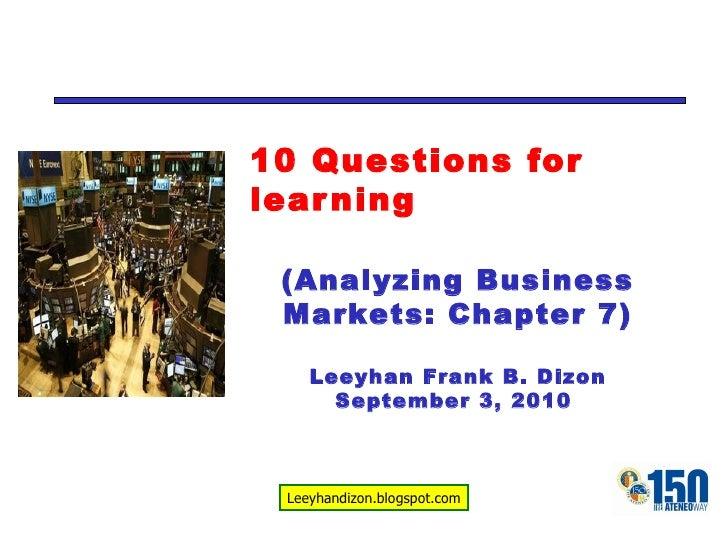 Markma 10 questions