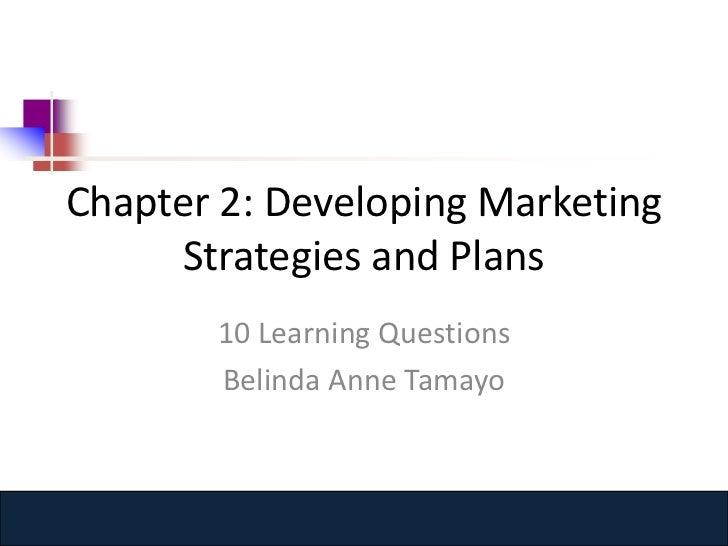 Chapter 2:Ten Learning Questions (Belinda Tamayo)