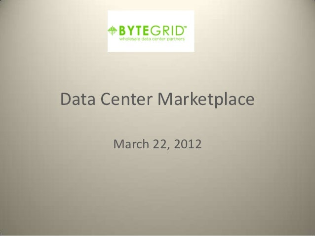 Mark Mac Auley Data Center Marketplace Event
